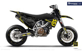 "Husqvarna GRAPHIC KIT - ""FACTOR"" (Marpatcamo/yellow)"