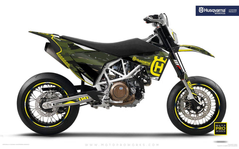 "Husqvarna GRAPHIC KIT - ""FACTOR"" (Tigercamo/nordic) - MotoProWorks 