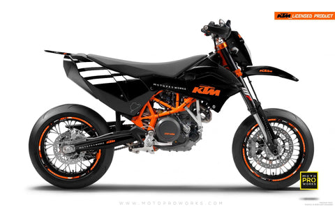 "KTM GRAPHIC KIT - ""FLAT ICON"" (black) - MotoProWorks 