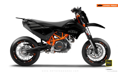 "KTM GRAPHIC KIT - ""FLAT ICON"" (darkgrey) - MotoProWorks 