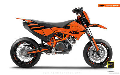 "KTM GRAPHIC KIT - ""FLAT ICON"" (orange/black) - MotoProWorks 