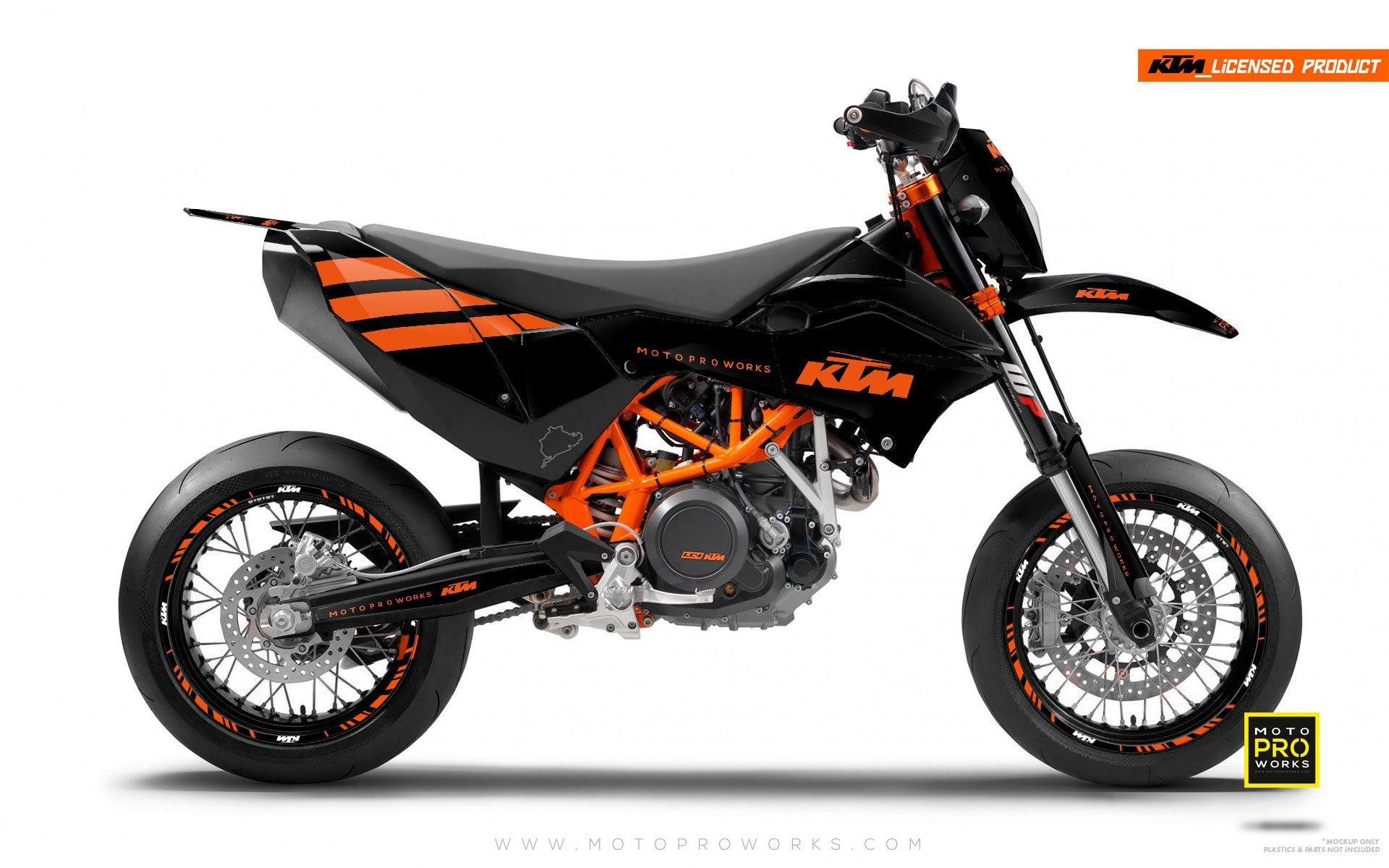 "KTM GRAPHIC KIT - ""FLAT ICON"" (orange) - MotoProWorks 