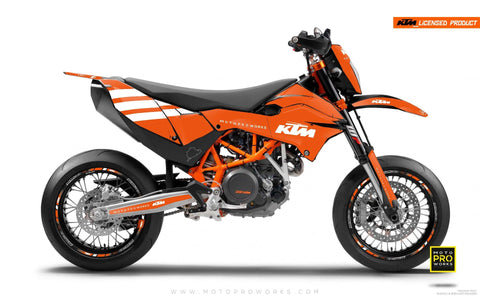 "KTM GRAPHIC KIT - ""FLAT ICON"" (orange/white)"