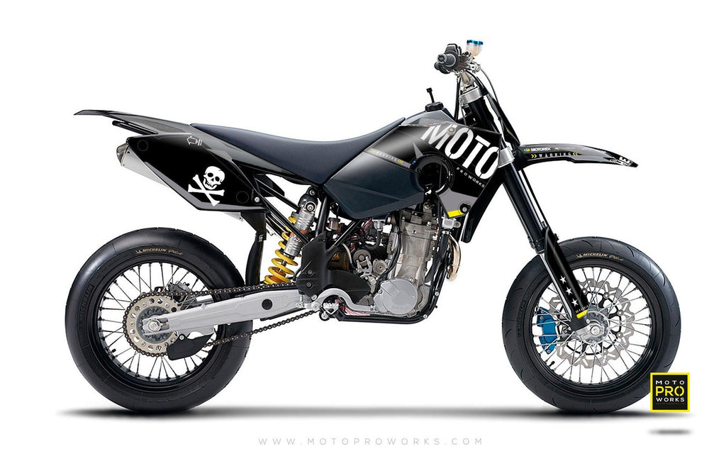 "Husaberg GRAPHIC KIT - ""GTECH"" (black) - MotoProWorks 