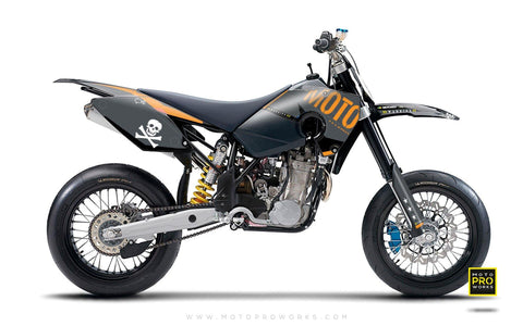 "Husaberg GRAPHIC KIT - ""GTECH"" (dark) - MotoProWorks 