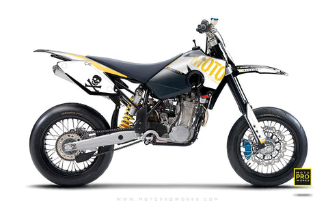 "Husaberg GRAPHIC KIT - ""GTECH"" (white) - MotoProWorks 