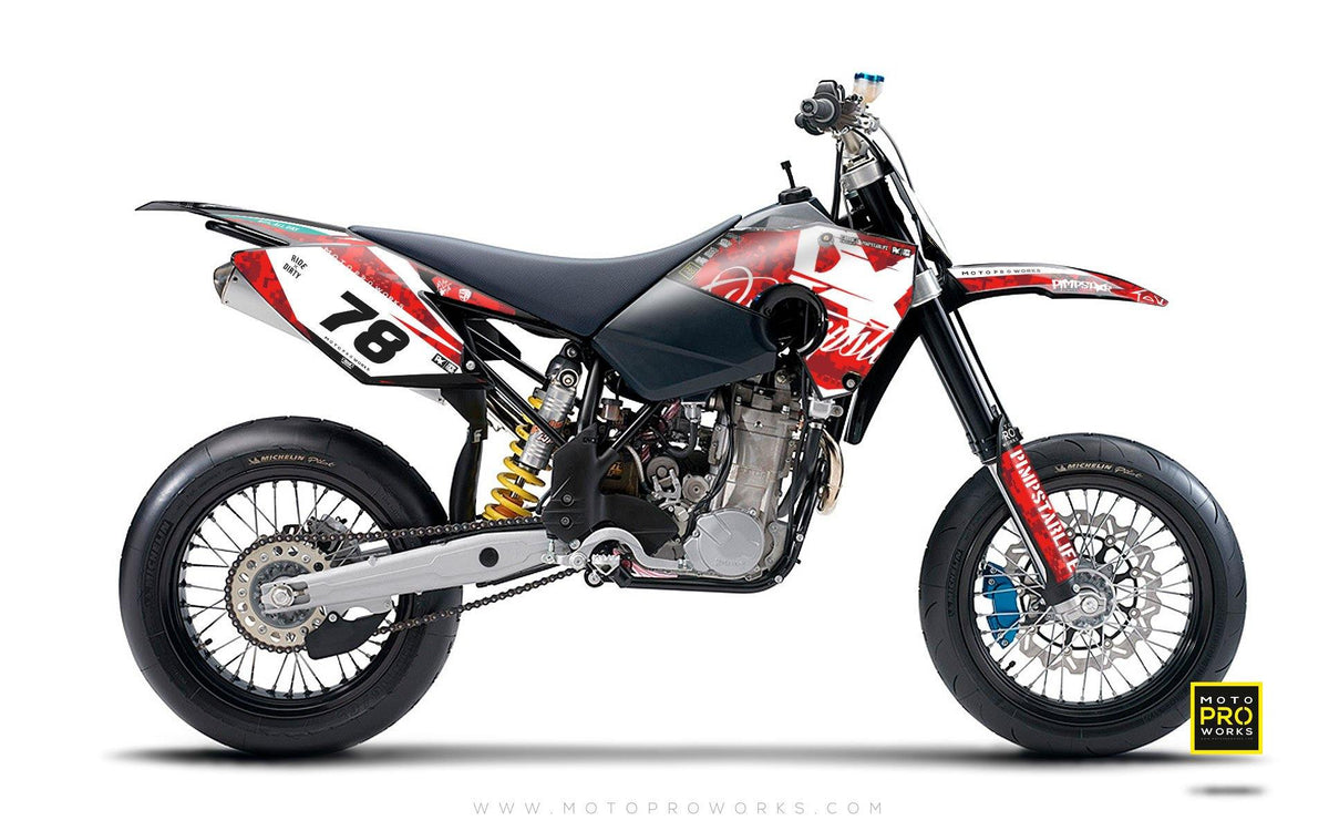 "Husaberg GRAPHIC KIT - ""MARPAT"" (red) - MotoProWorks 
