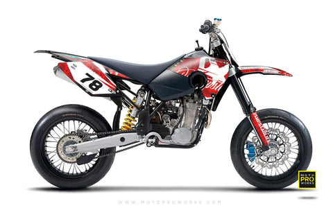 "Husaberg GRAPHIC KIT - ""MARPAT"" (red)"