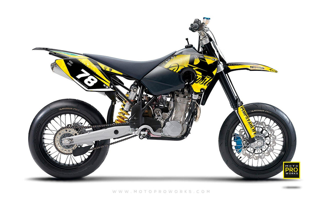 "Husaberg GRAPHIC KIT - ""MARPAT"" (yellow) - MotoProWorks 