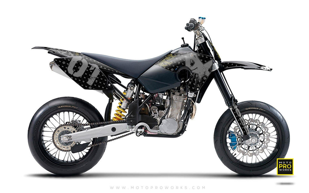 "Husaberg GRAPHIC KIT - ""STEALTHER"" (black) - MotoProWorks 