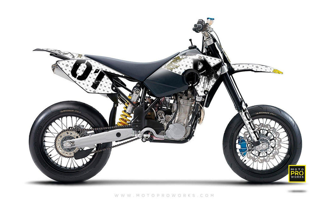 "Husaberg GRAPHIC KIT - ""STEALTHER"" (white)"
