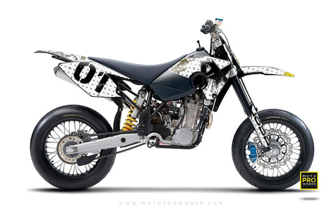 "Husaberg GRAPHIC KIT - ""STEALTHER"" (white) - MotoProWorks 