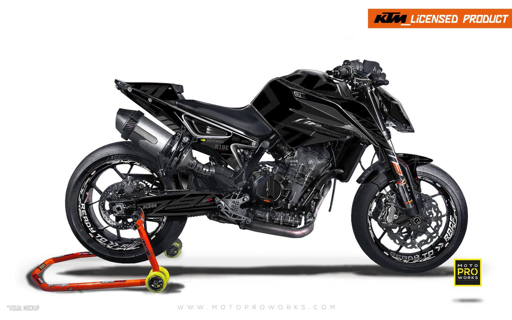 "KTM 790 Duke GRAPHIC KIT - ""Rasorblade"" (Stealth) - MotoProWorks 