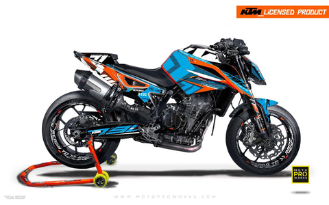 "KTM 790 Duke GRAPHIC KIT - ""Rasorblade"" (Blue) - MotoProWorks 