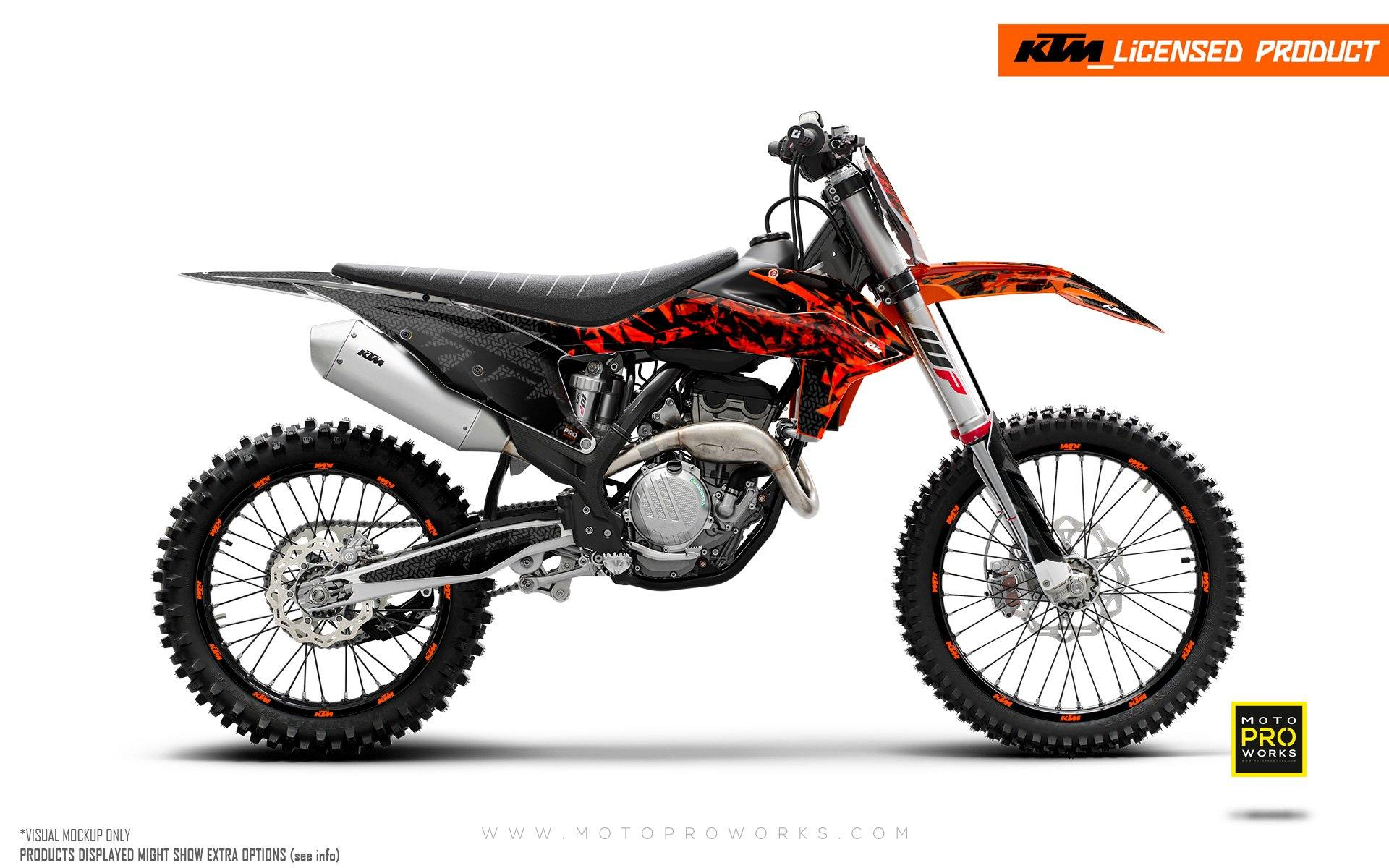 "KTM GRAPHIC KIT - SX/SFX ""Scorched"""
