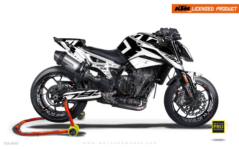 "KTM 790 Duke GRAPHIC KIT - ""Rasorblade"" (White) - MotoProWorks 
