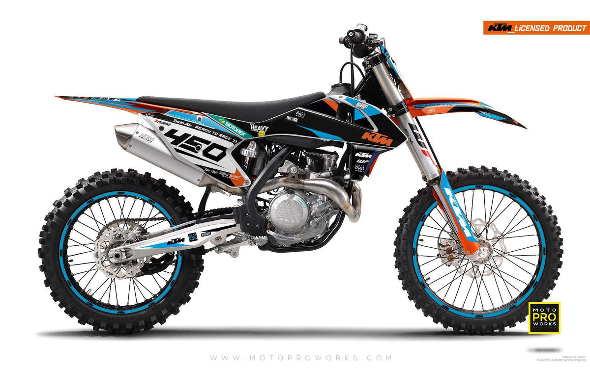 "KTM GRAPHIC KIT - ""ProGO"" (black) - MotoProWorks 