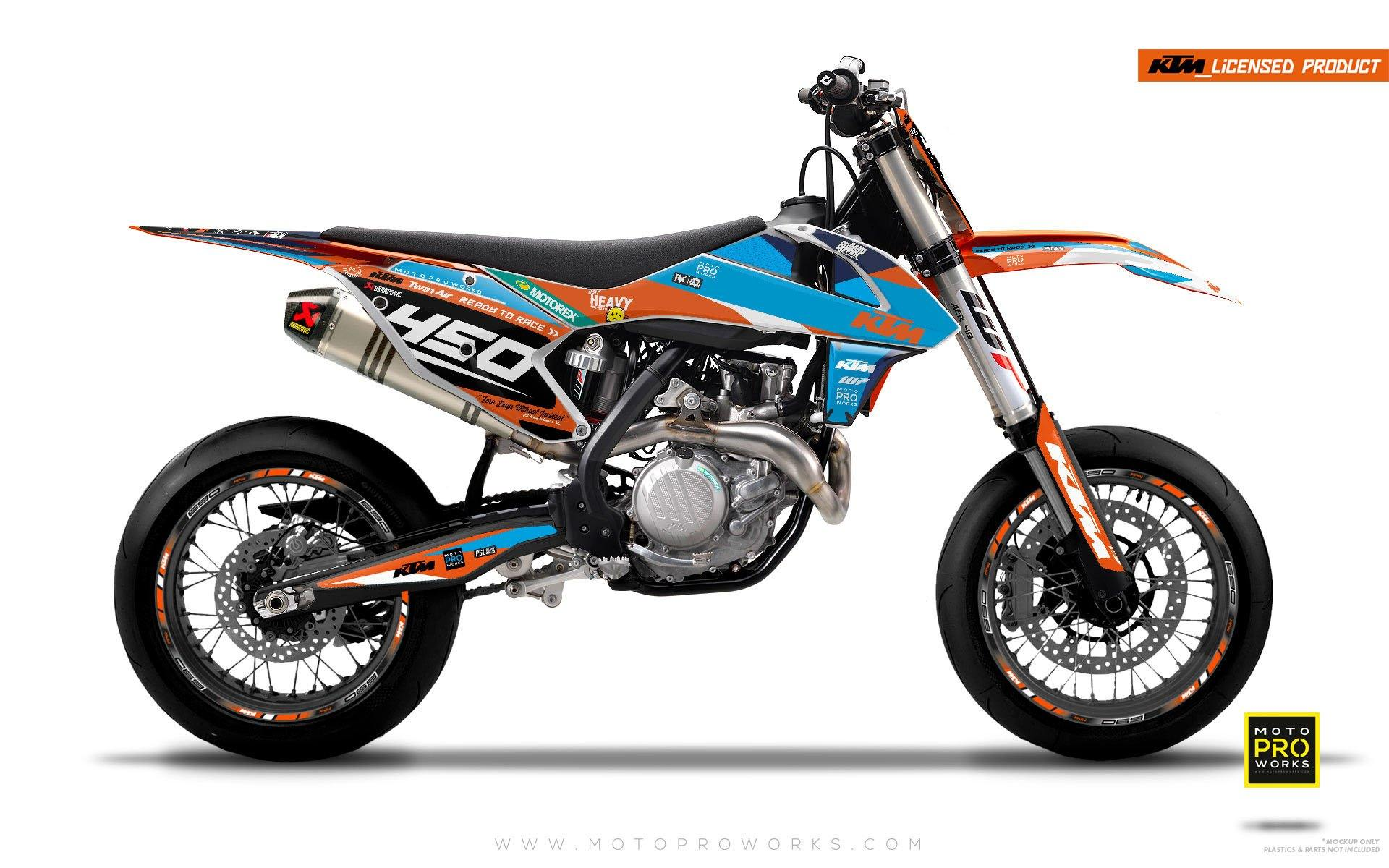 "KTM GRAPHIC KIT - ""ProGO"" (blue) - MotoProWorks 