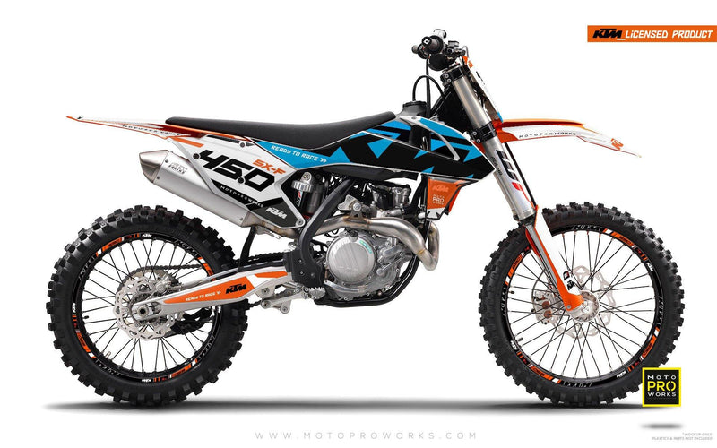 "KTM GRAPHIC KIT - ""READYONE"" (blue) - MotoProWorks 