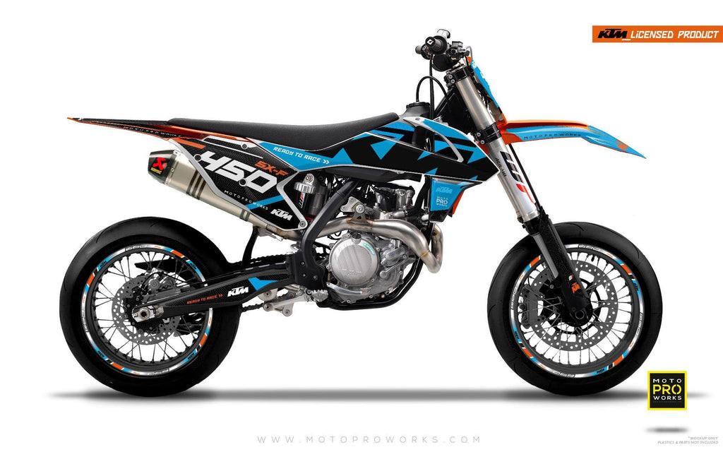"KTM GRAPHIC KIT - ""READYONE"" (blue/black) - MotoProWorks 