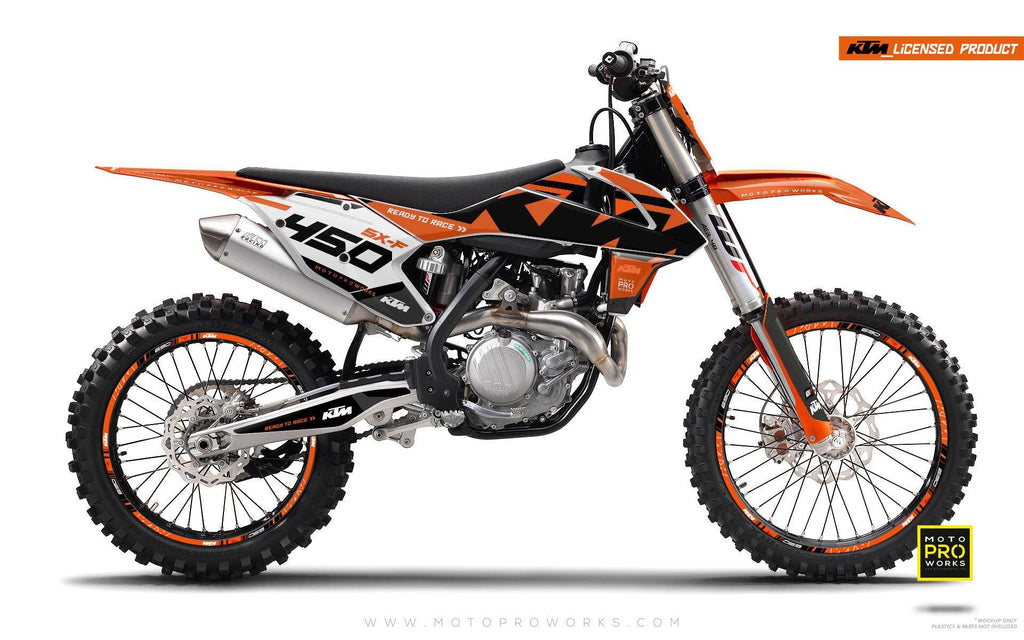 "KTM GRAPHIC KIT - ""READYONE"" (orange) - MotoProWorks 