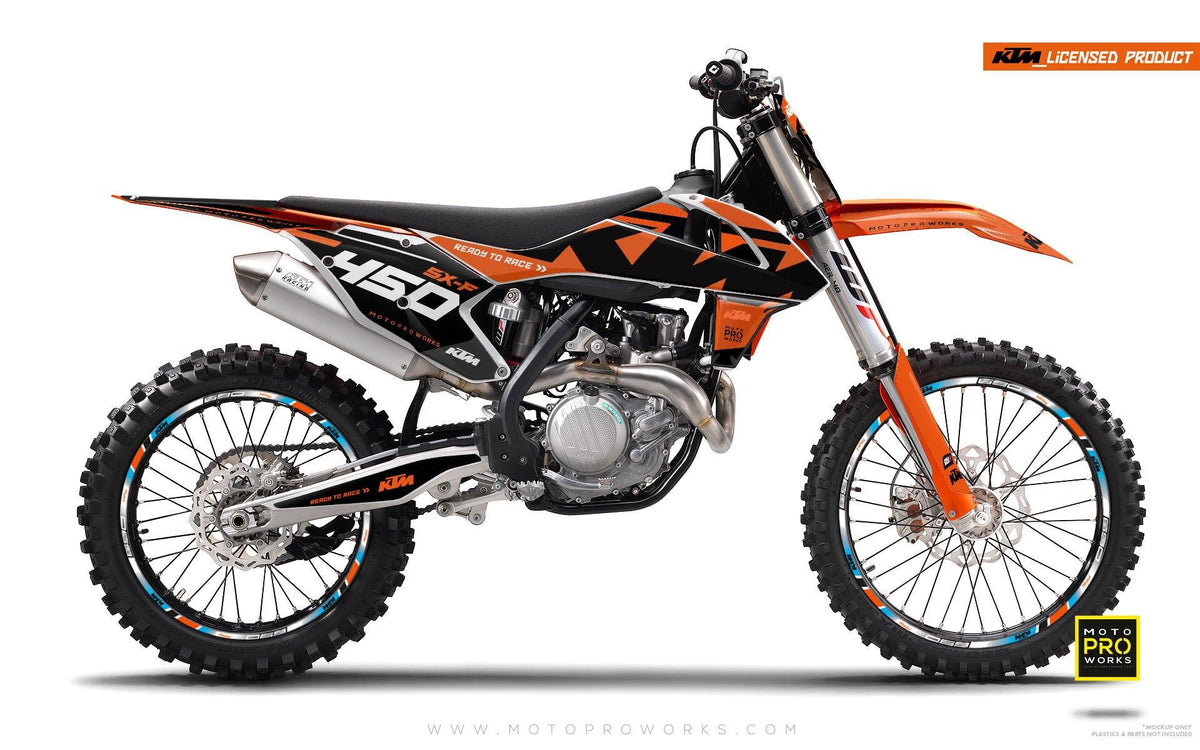 "KTM GRAPHIC KIT - ""READYONE"" (orange/black) - MotoProWorks 