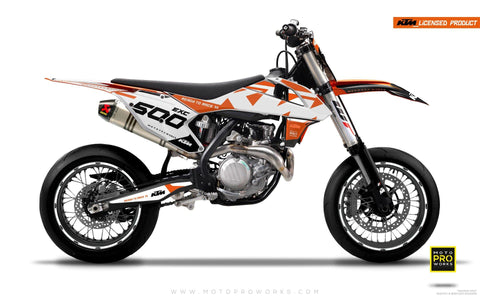 "KTM GRAPHIC KIT - ""READYONE"" (orange/white)"