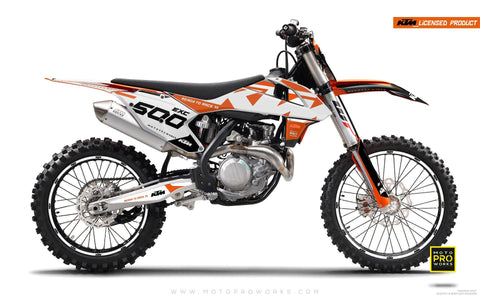 "KTM GRAPHIC KIT - ""READYONE"" (orange/white) - MotoProWorks 