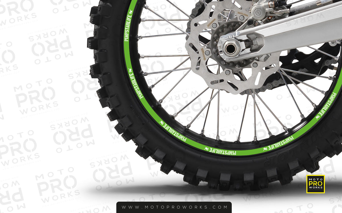 "Rim Stripes - ""SOLID"" Pimpstar (green) - MotoProWorks 