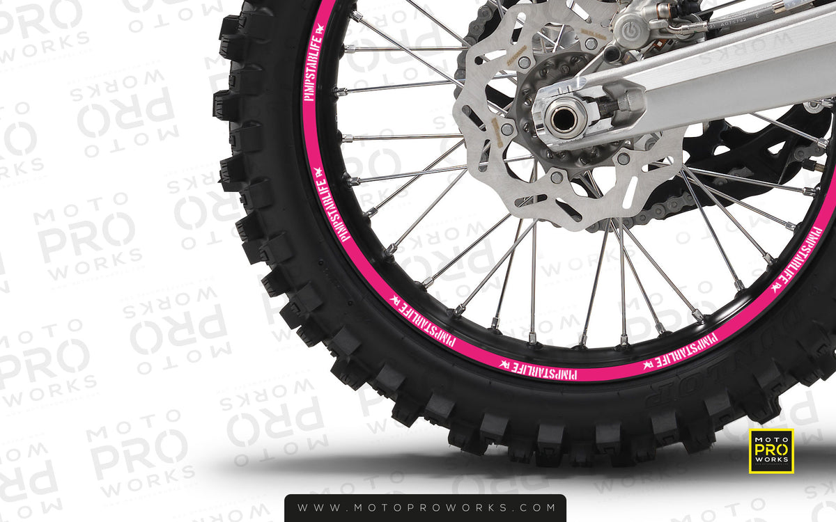 "Rim Stripes - ""SOLID"" Pimpstar (pink) - MotoProWorks 