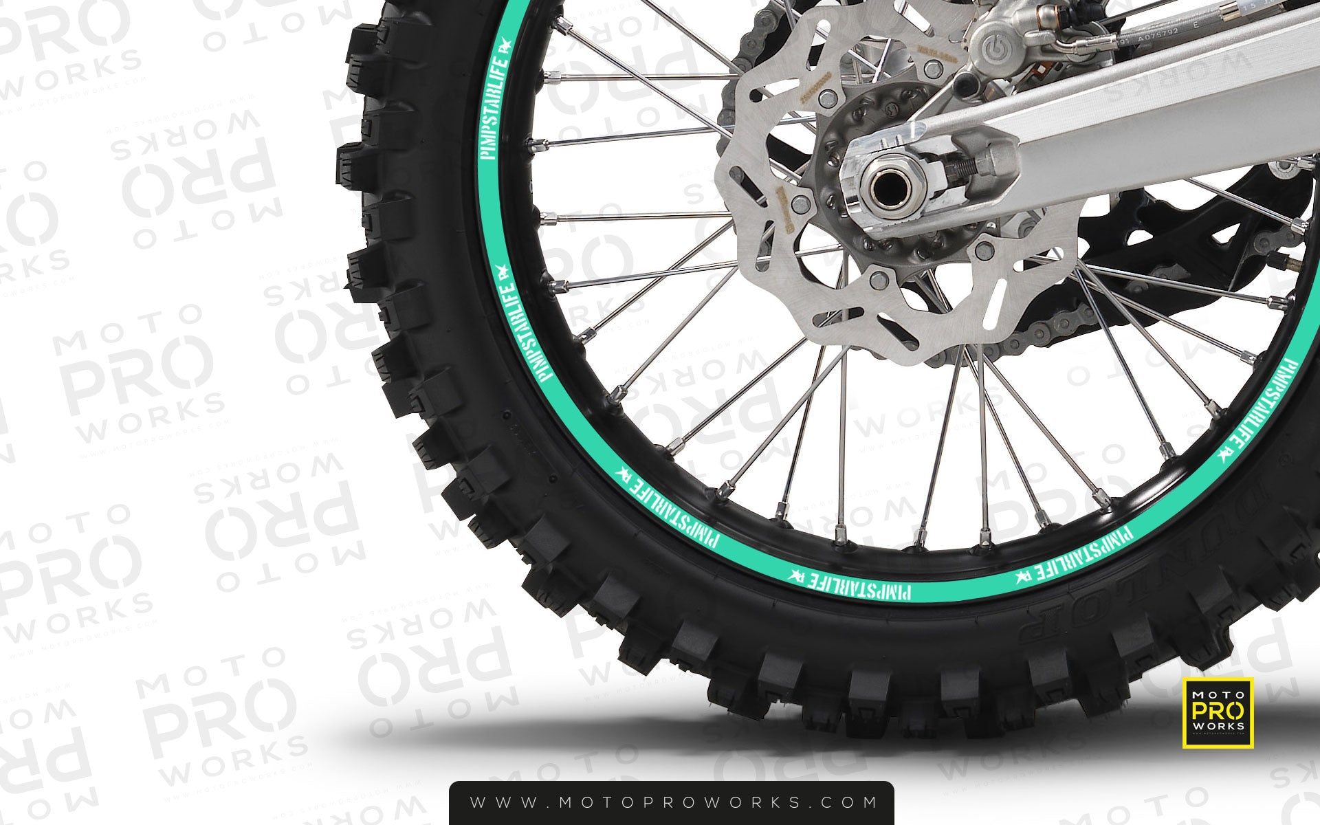 "Rim Stripes - ""SOLID"" Pimpstar (turquoise) - MotoProWorks 