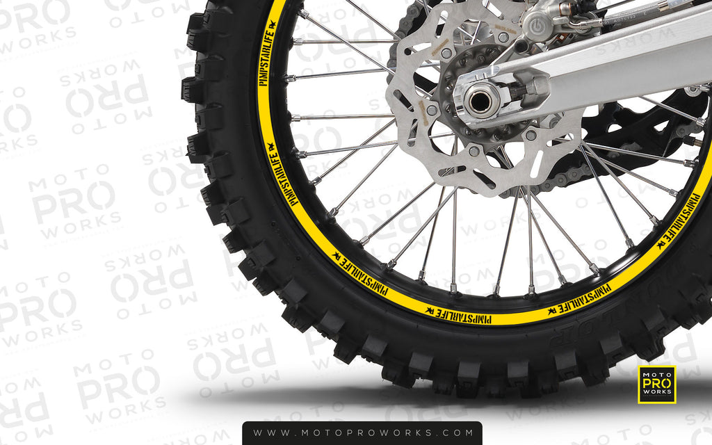 Rim Stripes - PSL Solid (yellow) - MotoProWorks | Decals and Graphic kit