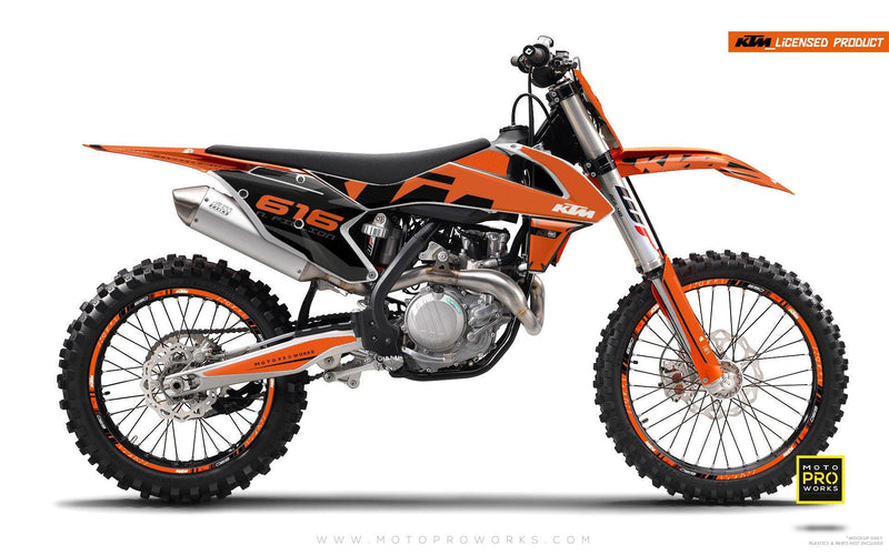 "KTM GRAPHIC KIT - ""ROC"" (orange) - MotoProWorks 