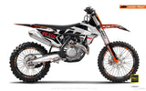"KTM GRAPHIC KIT - ""ROC"" (white) - MotoProWorks 