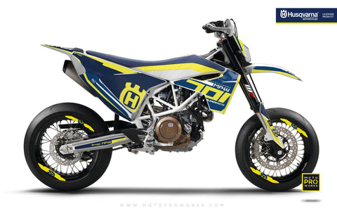 "Husqvarna GRAPHIC KIT - ""SEVENOHONE"" (Blue) - MotoProWorks 