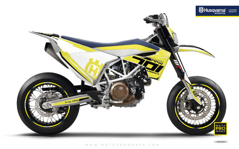 "Husqvarna GRAPHIC KIT - ""SEVENOHONE"" (Yellow)"