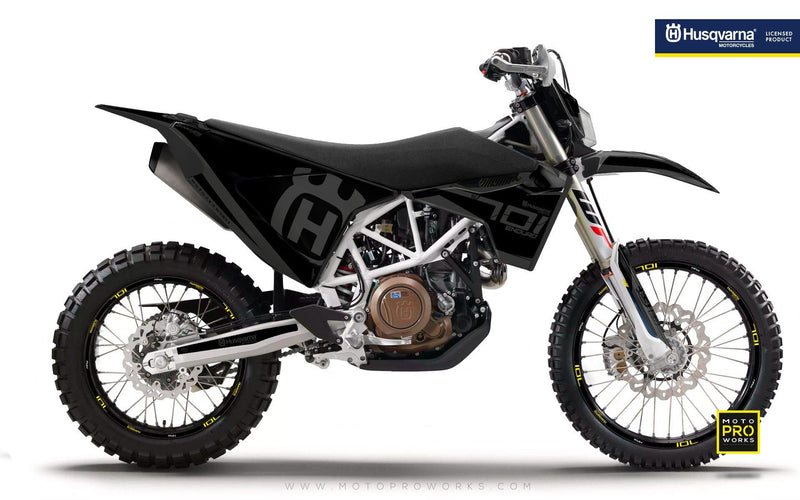 "Husqvarna GRAPHIC KIT - ""SEVENOHTWO"" (Black) - MotoProWorks 