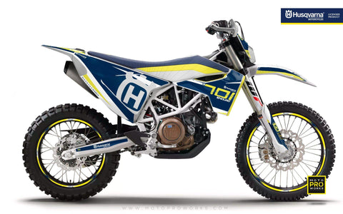 "Husqvarna GRAPHIC KIT - ""SEVENOHTWO"" (Blue) - MotoProWorks 