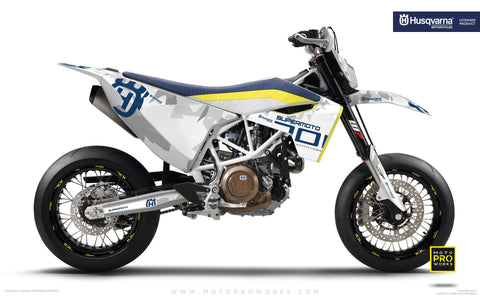 "Husqvarna GRAPHIC KIT - ""SPARK"" (White)"