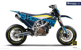 "Husqvarna GRAPHIC KIT - ""STATEMENT"" (Cyan) - MotoProWorks 
