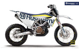 "Husqvarna GRAPHIC KIT - ""STATEMENT"" (White) - MotoProWorks 