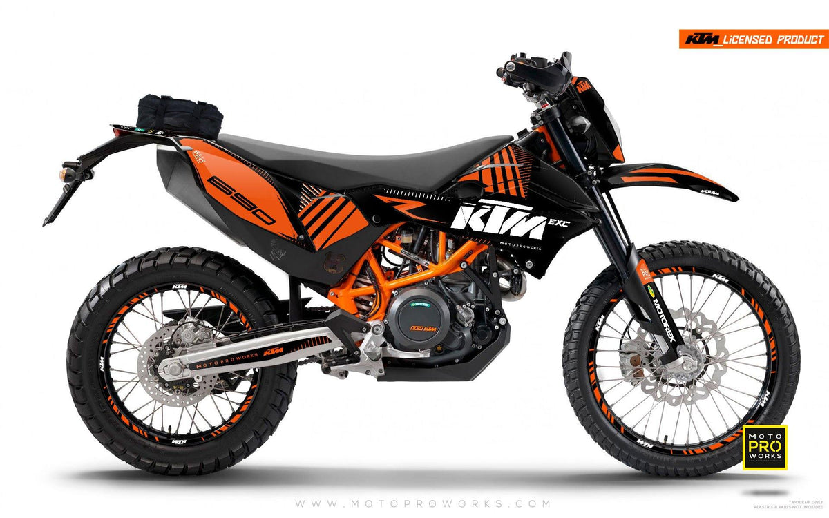 "KTM GRAPHIC KIT - ""VIBE"" (blacksolid) - MotoProWorks 