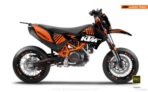 "KTM GRAPHIC KIT - ""VIBE"" (blacksolid)"