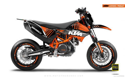 "KTM GRAPHIC KIT - ""VIBE"" (orange) - MotoProWorks 
