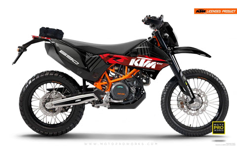 "KTM GRAPHIC KIT - ""VIBE"" (red) - MotoProWorks 
