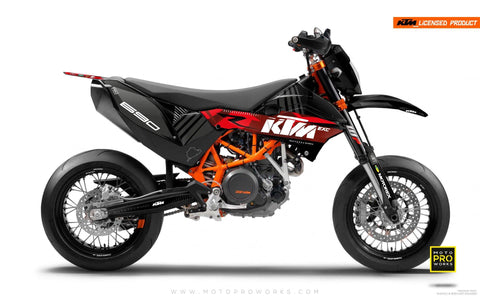 "KTM GRAPHIC KIT - ""VIBE"" (red)"
