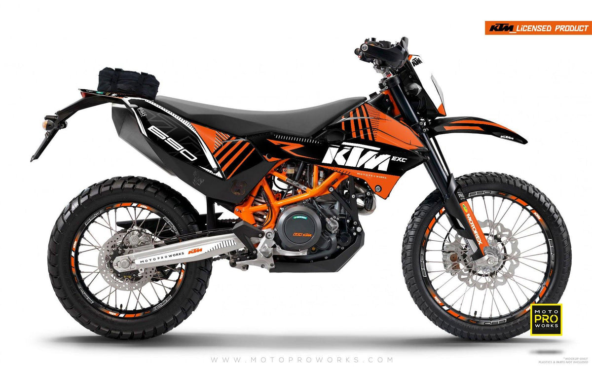 "KTM GRAPHIC KIT - ""VIBE"" (solidorange) - MotoProWorks 