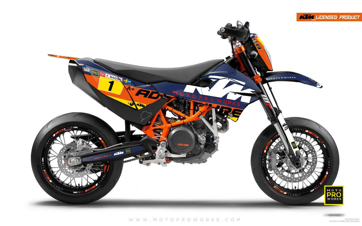 "KTM GRAPHIC KIT - ""WAYPOINTER"" (dawn) - MotoProWorks 