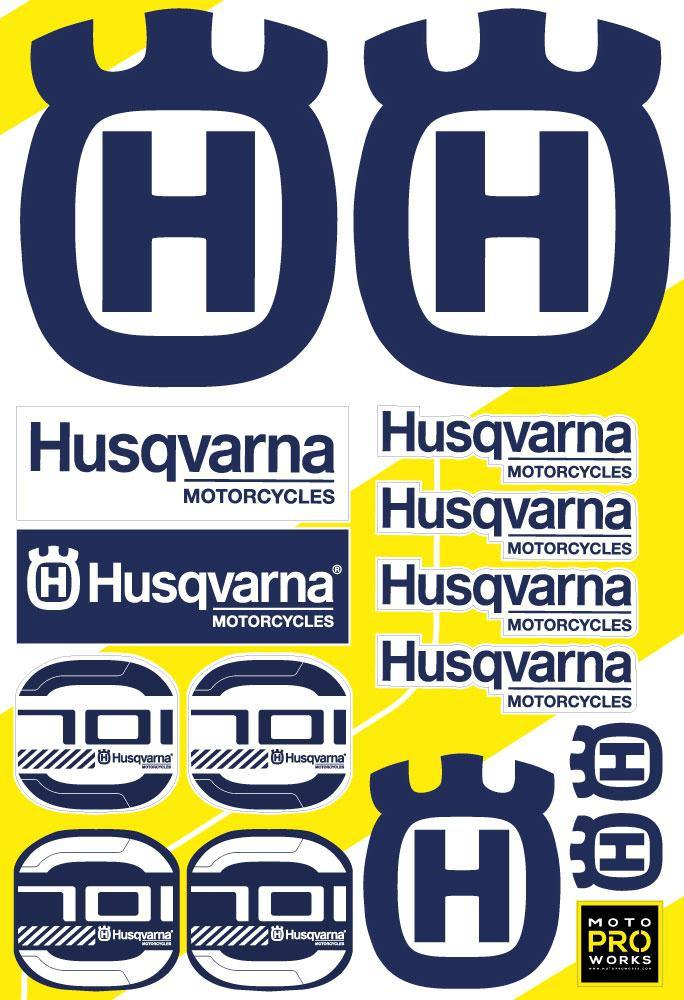 "Husqvarna Sticker Sheets - ""701"" (blue) - MotoProWorks 