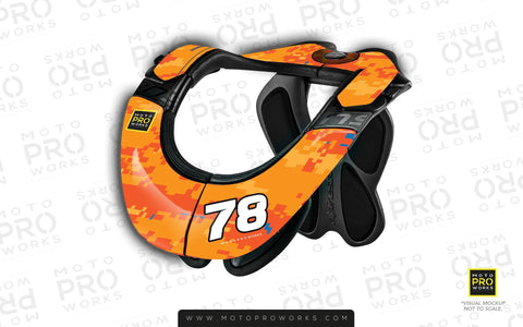 Neck Brace Graphics - Semi-Custom Graphics - MotoProWorks | Decals and Graphic kit